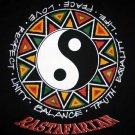 RASTAFARIAN Ying Yang Rasta T-shirt by Reggae S Black