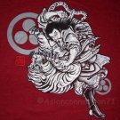 BUSHIDO BATTLE Japanese RONIN Tokyo Yakuza T-Shirt L RED