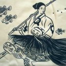 URASHIMA TARO Japan Tale New Ronin T-Shirt L Cream BNWT