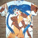 TIGER GIRL New Japanese Anime Cap Sleeve Manga T Shirt Misses Size S Small