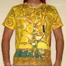 TREE OF LIFE Gustav Klimt Fine Art Print Short Sleeve T-Shirt Mens M Medium