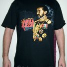 HAILE SELASSIE Roots Rasta REGGAE T-Shirt XL Black
