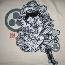 BUSHIDO BATTLE Ronin Japan Yakuza T-Shirt XXL Cream NWT