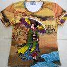 Utamaro Ukiyoe New Japanese Geisha Cap Sleeve T-Shirt M