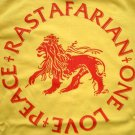 RASTAFARIAN PEACE ONE LOVE New REGGAE T-shirt XL Yellow