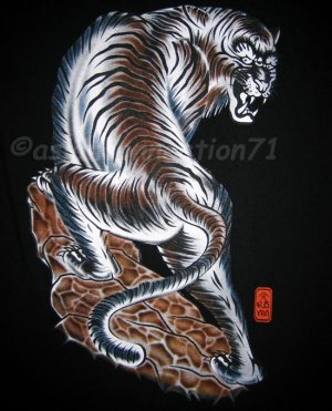 TORA TIGER New RONIN Japan Yakuza T-shirt L Black BNWT!