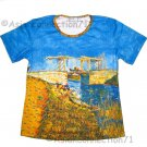 Van Gogh ARLES BRIDGE Short Sleeve Art Print T Shirt Misses S Small