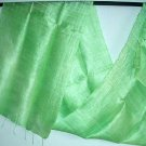 Thai Pure Silk Hand Crafted Fabric Scarf SPRING GREEN Shawl Direct from Thailand