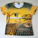 DISINTEGRATION OF MEMORY Salvador Dali Fine Art Print Short Sleeve T Shirt Misses XL
