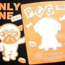 Only One PUG Fun New Japan CISSE Disco Party Puppy Dog T-shirt M Black BNWT!