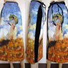 Monet WOMAN with PARASOL New Hand Printed Art Skirt S-XL