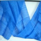 Thai Handcrafted ROYAL BLUE New Raw Silk Fabric Scarf