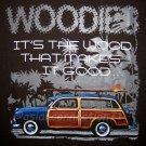 WOODIES Hawaiian Priere Surf T-shirt M Medium Brown