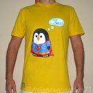 SUPER PENGUIN Party CISSE Disco Rave Anime T-shirt Slim Fit Asian XL Yellow