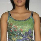 IRISES Vincent Van Gogh Sexy Fine Art Print Shirt Singlet TANK TOP Misses Size S Small