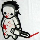 NORTH DRAGON Baby Jason Bloody Chainsaw Massacre Punk Rock Killer T-Shirt L Large White
