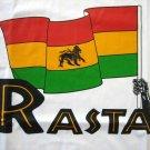 RASTA Lion of Judah FLAG Roots REGGAE T-shirt L White