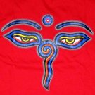 BUDDHA EYES New REGGAE Tibetan Namaste T-Shirt S Red