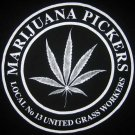 MARIJUANA PICKERS Long Sleeve Cotton Shirt by REGGAE L