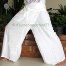 Thai PLUS SIZE XXL Rayon Fisherman New Yoga Pants WHITE
