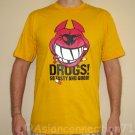 DRUGS So Tasty And Good North Dragon Japan T-Shirt M Medium Yellow