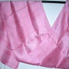 Thai Desert Rose Pink New Hand Craft Silk Fabric Scarf from Thailand
