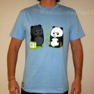 BEACH PANDA Tan Fun New CISSE T-shirt Asian M Blue BNWT