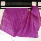 Thai Handwoven Pure Silk Fabric Scarf PURPLE GRAPE Siam Thailand Textile Shawl
