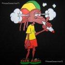 RASTA SMOKE MARIJUANA New Roots REGGAE T-shirt M Black