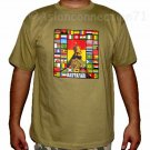 RASTAFARI WORLD REGGAE New Roots Rasta T-Shirt L Tan