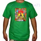 RASTAFARI WORLD REGGAE New Roots Rasta T-Shirt L Green
