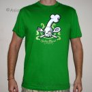 COOKING HAZARD Fun New CISSE T-shirt Asian M GREEN BNWT