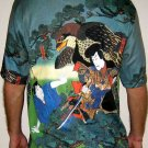 HAYABUSA SAMURAI Hand Printed Japan Art T-Shirt Mens M