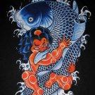 RED ONI and KOI Ronin Japan Tokyo Yakuza Ganster T-Shirt XL Black