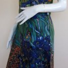 Vincent Van Gogh IRISES Hand Print Fine Art Tank DRESS Misses Size S Small 4-6