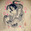 DRAGON Wrestler RONIN Japan T Shirt M Cream