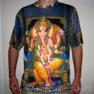 LORD GANESH Hindu God Fine Art Hand Print T Shirt MEN'S Size XL