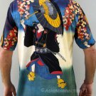 KABUKI Japanese Ukiyoe T-shirt Art Print Short Sleeve Mens M Medium