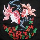 EMBROIDERED Kingyou Japanese Goldfish T-shirt M,L NWOT