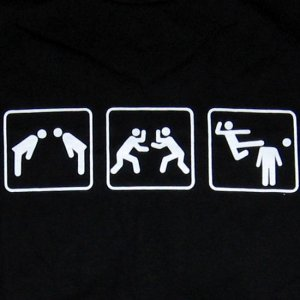 PLAY KARATE LOSE HEAD Fun New Quality T-Shirt S BLACK