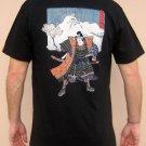 KABUKI ACTOR with SAKURA Ronin Japan Yakuza Tokyo T-Shirt L Large Black BNWT