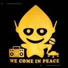 WE COME IN PEACE Cisse Alien DJ T-Shirt Slim M L XL XXL