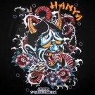HANYA New Ronin Japan Yakuza Snake T shirt XL Black NWT