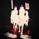 BLOODY SAMURAI RIDERS Ronin Japan Tokyo Yakuza T shirt XXL Black NWT