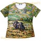 PEASANTS New Van Gogh Art Print T-shirt Misses S M L XL