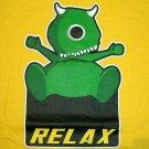 RELAX MONSTER Fun New CISSE T-Shirt Asian L Yellow BNWT