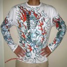Japan FIRE DEMON New Irezumi Tattoo LONG SLEEVE Shirt M