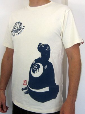 SAMURAI PROFILE RONIN JAPAN T-Shirt L Large Cream