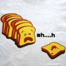 Ah..h Sneezy Toast New CISSE T-shirt Asian M White BNWT