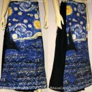 Van Gogh STARRY NIGHT Freesize Cotton Wrap Fine Art Print Long Cotton Skirt S-XL